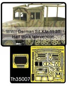 Set for Sd.Kfz.11 3t Half Truck (late) · AF TH35007 ·  AFV-Club · 1:35