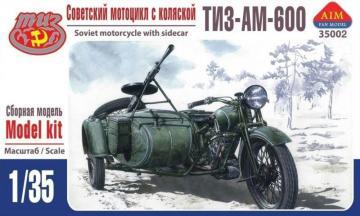 TIZ-AM-600 Soviet motorcycle with sidecar · AIM A35002 ·  AIM Fan Model · 1:35