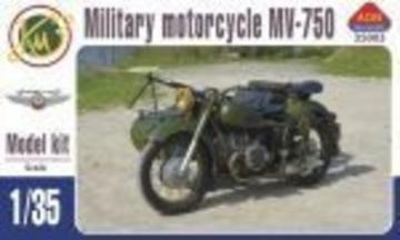 MV-750 Soviet military motocycle with sidecar · AIM A35003 ·  AIM Fan Model · 1:35