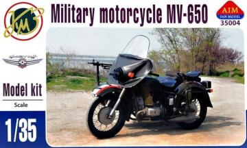 MV-650 Military Motorcycle · AIM A35004 ·  AIM Fan Model · 1:35