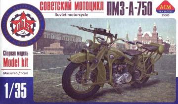 PMZ-A-750 Soviet motorcycle · AIM A35005 ·  AIM Fan Model · 1:35