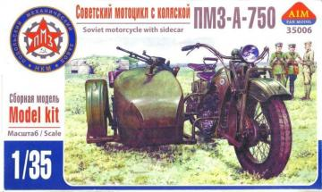 PMZ-A-750 Soviet motorcycle with sidecar · AIM A35006 ·  AIM Fan Model · 1:35