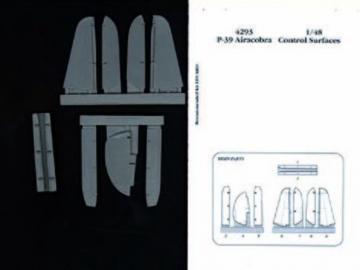 P-39 Airacobra - Control surfaces [Eduard] · AIR 4293 ·  Aires · 1:48