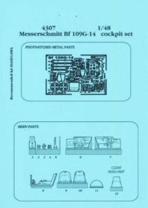 Messerschmitt Bf 109 G-14 - Cockpit Set [Hasegawa] · AIR 4307 ·  Aires · 1:48