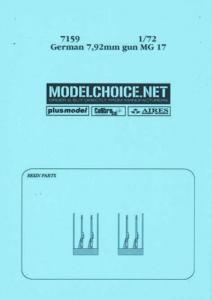German 7,92mm gun MG 17 · AIR 7159 ·  Aires · 1:72