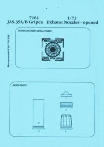 Jas-39A/B Gripen - Exhaust nozzle - closed [Italeri] · AIR 7160 ·  Aires · 1:72
