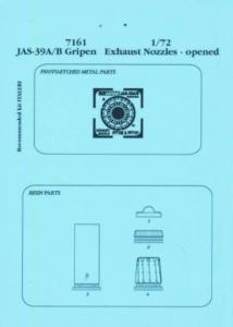 JAS-39A/B Gripen - Exhaust nozzle - offen [Italeri] · AIR 7161 ·  Aires · 1:72