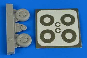 Bücker Bü 131 - Wheels & paint masks disc cover [ICM] · AIR 2226 ·  Aires Hobby Models