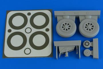 A1H Skyraider - Wheels & paint masks [Trumpeter] · AIR 2227 ·  Aires Hobby Models · 1:32