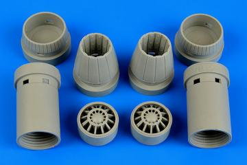 F/A-18E Super Hornet - Exhaust nozzles - opened · AIR 4644 ·  Aires Hobby Models · 1:48