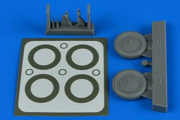 I-16 - Wheels & paint masks [ICM] · AIR 4797 ·  Aires Hobby Models · 1:48