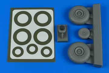 Dornier Do 217N - Wheels & paint masks - late A [ICM] · AIR 4804 ·  Aires Hobby Models · 1:48