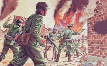 WWII German Infantry · AX 00705V ·  Airfix · 1:76