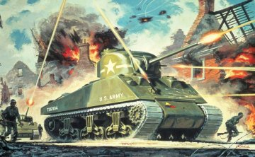 Sherman M4 Mk1 · AX 01303V ·  Airfix · 1:76