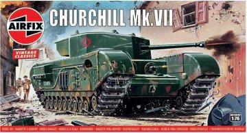 Churchill Mk.VII Tank, Vintage Classics · AX 01304V ·  Airfix · 1:76