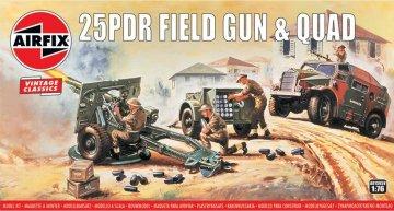 25pdr Field Gun & Quad, Vintage Classics · AX 01305V ·  Airfix · 1:76