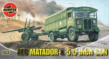 AEC Matador & 5,5 inch Gun · AX 01314 ·  Airfix · 1:76