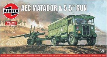 AEC Matador & 5.5inch Gun,Vintage Classics · AX 01314V ·  Airfix · 1:76