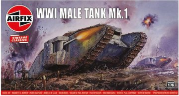 WWI Male Tank Mk.I,Vintage Classics · AX 01315V ·  Airfix · 1:76