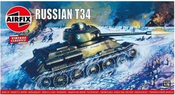 Russian T-34 Medium Tank,Vintage Classics · AX 01316V ·  Airfix · 1:76