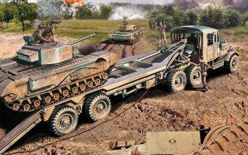 Scammell Tank Transporter - Vintage Classics · AX 02301V ·  Airfix · 1:76
