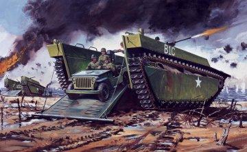 Buffalo Amphibian LVT & Jeep - Vintage Classics · AX 02302V ·  Airfix · 1:76