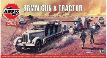 88mm Flak Gun & Tractor, Vintage Classics · AX 02303V ·  Airfix · 1:76