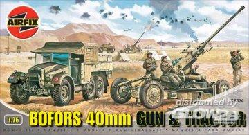 Bofors Gun and Tractor · AX 02314 ·  Airfix · 1:76
