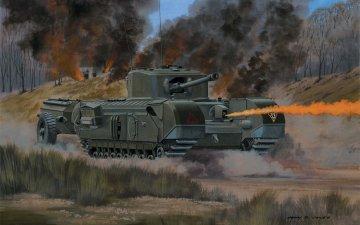 Churchill Crocodile · AX 02321V ·  Airfix · 1:76