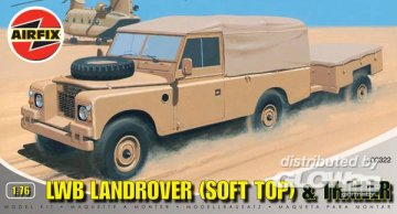 LWB Landrover (Soft Top ) & Trailer · AX 02322 ·  Airfix · 1:76