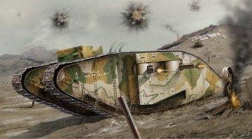 WWI Female Tank · AX 02337V ·  Airfix · 1:76