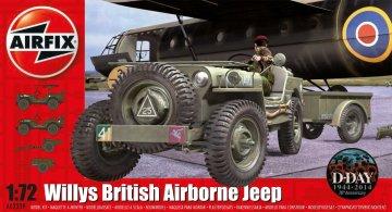 Willys Jeep, Trailer & 6PDR Gun · AX 02339 ·  Airfix · 1:72