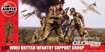 British Infantry Support Set · AX 04710 ·  Airfix · 1:32