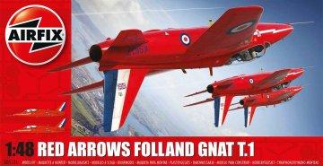 Red Arrows Gnat · AX 05124 ·  Airfix · 1:48