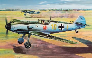 Messerschmitt Bf 109E · AX 12002V ·  Airfix · 1:24