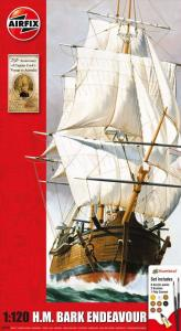 Endeavour Bark and Captain Cook 250th anniversary · AX 50047 ·  Airfix · 1:120