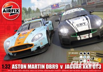 Jaguar/ Aston Martin Twin Pack · AX 50111 ·  Airfix · 1:32