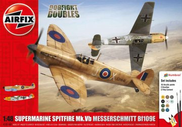 Supermarine Spitfire MkVb Messerschmitt Me BF 109 E · AX 50160 ·  Airfix · 1:48