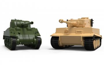 Classic Conflict - Tiger 1 vs Sherman Firefly · AX 50186 ·  Airfix · 1:72