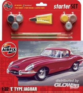 Starter Set Med E Type Jaguar (new) · AX 55200 ·  Airfix · 1:32