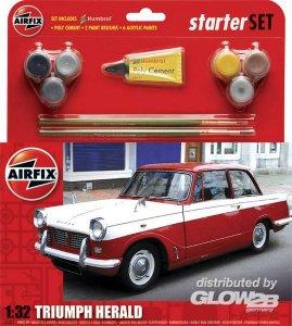 Starter Set Med Triumph Herald (new) · AX 55201 ·  Airfix · 1:32