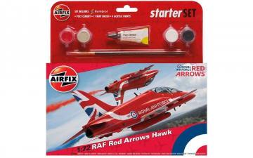 Medium Starter Set - RAF Red Arrows Hawk · AX 55202C ·  Airfix · 1:72