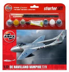 DH Vampire TII Starter Set · AX 55204 ·  Airfix · 1:72