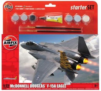 Large Starter Set - McDonnell Douglas F-15A Strike Eagle · AX 55311 ·  Airfix · 1:72