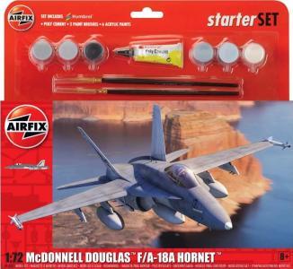Large Starter Set - McDonnell Douglas F-18 Hornet · AX 55313 ·  Airfix · 1:72