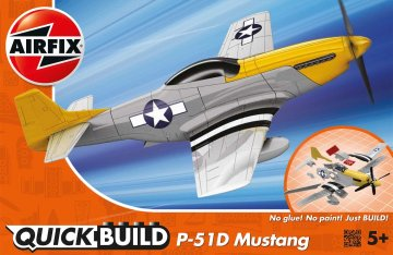 P-51D Mustang - Quick Build · AX J6016 ·  Airfix