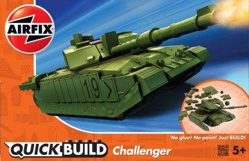 Quickbuild Challenger Tank - Green · AX J6022 ·  Airfix
