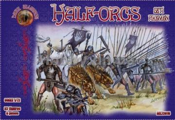 Half-Orcs pikemen, set 1 · ALL 72015 ·  Alliance · 1:72