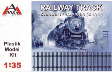 Railway track (Standard/Russian 2 in 1) · AMG 35202 ·  AMG · 1:35