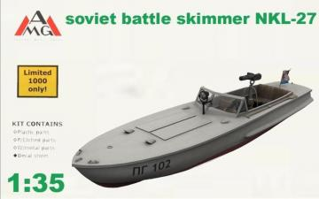 NKL-27 armed speed boat WWII · AMG 35402 ·  AMG · 1:35